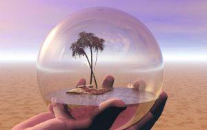 Гармония души подобно оазису под куполом